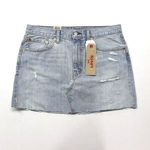 Levi's Deconstructed Denim Skirt - Live Wire 14/32
